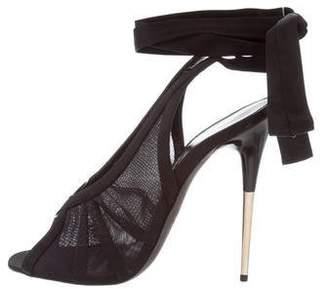 Tom Ford Mesh & Satin Sandals