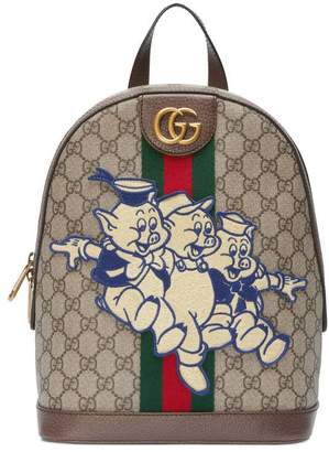be46af3d4068 Gucci Ophidia GG backpack with Three Little Pigs