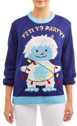 Merry Christmas Women's Yeti Ugly Christmas Sweater