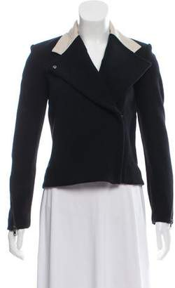 Helmut Lang Leather-Trimmed Knit Jacket