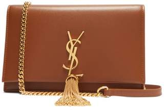 Saint Laurent Kate Mini Monogram Leather Cross Body Bag - Womens - Tan