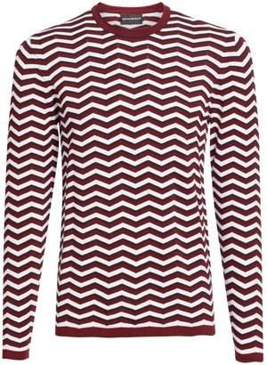 Emporio Armani Zigzag Crewneck Sweater
