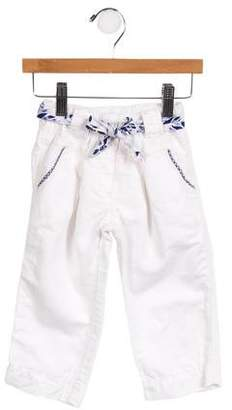 Catimini Girls' Belted Straight-Leg Jeans