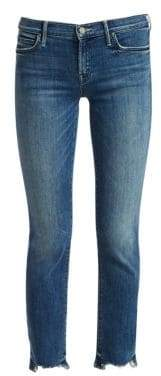 Mother Rascal Chewed Hem Straight-Leg Ankle Jeans