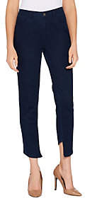 Lisa Rinna Collection Skinny Asymmetric HemJeans
