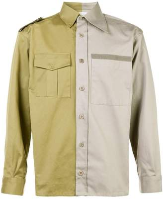 Gosha Rubchinskiy contrasting shirt