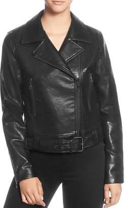T Tahari Faux-Leather Moto Jacket
