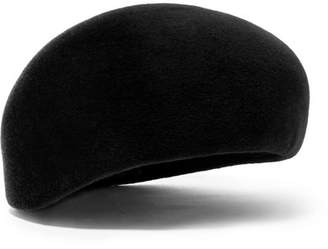 Philip Treacy Velour Beret - Black