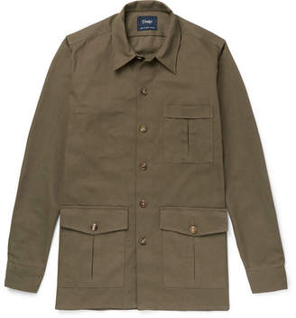Drakes Drake's - Cotton-Canvas Shirt Jacket - Army green