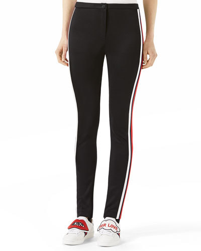 Gucci Gucci Jersey Stirrup Leggings with Sylvie Web
