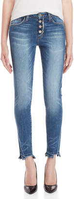 Flying Monkey Button Front Skinny Jeans