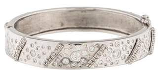 18K Diamond Hinged Bracelet