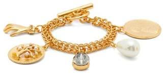 Oscar de la Renta Charms Chain Link Bracelet - Womens - Gold