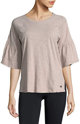 Calvin Klein Three-Quarter Bell-Sleeve Top