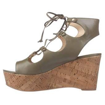 Marc Fisher Womens Smarty Leather Open Toe Ankle Strap Wedge Pumps