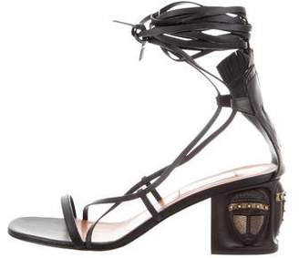 Valentino 2016 Tribal Lace-Up Sandals w/ Tags
