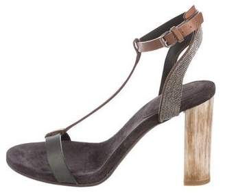 Brunello Cucinelli Leather Monili-Accented Sandals