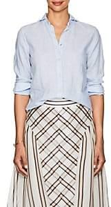 Barneys New York Women's Linen Shirt-Blue