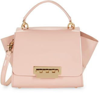 Zac Posen Eartha Winged Patent Leather Shoulder Bag