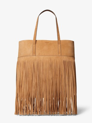 cd673c4fc1b21e Michael Kors Ursula Medium Fringed Suede Tote