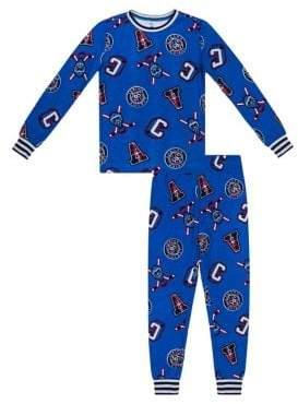 Petit Lem Boy's Hockey Print Two-Piece Pyjama Set