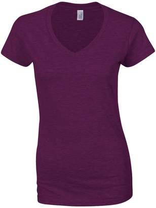 Gildan Ladies Soft Style Short Sleeve V-Neck T-Shirt (L)