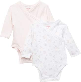 Little Me Dainty Wrap Bodysuits - Pack of 2 (Baby Girls)