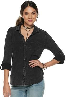 Rock & Republic Women's Roll-Cuff Button-Down Shirt