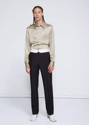 Maison Margiela Tropical Wool Mohair Reversed Waistband Trouser