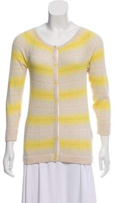 Marc by Marc Jacobs Silk-Blend Striped Cardigan