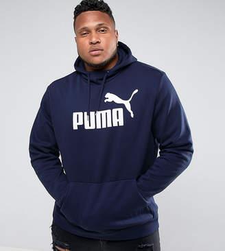 Puma PLUS ESS No.1 Pullover Hoodie In Navy 83825706