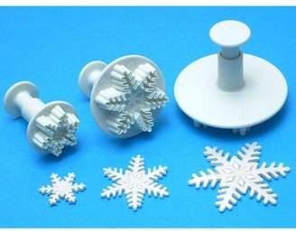 P.M.E. Plunger Cutter Set 3 Pieces-Snowflake
