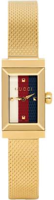 Gucci Gold G-Frame Slim Watch