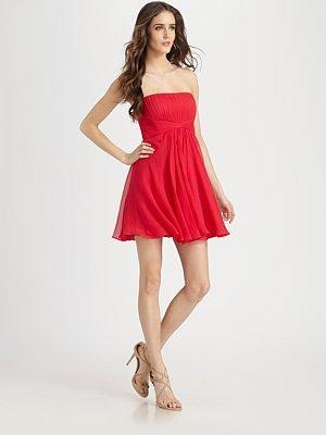 Strapless Silk Duran Dress