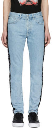 Marcelo Burlon County of Milan Blue Kappa Edition Anti-Fit Jeans