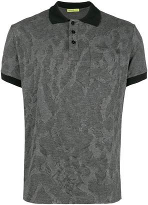 Versace textured polo shirt