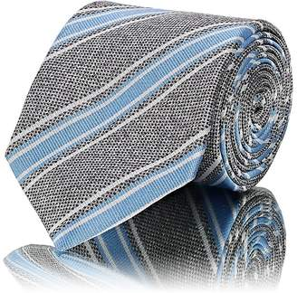 Barneys New York Men's Striped Textured Silk Necktie