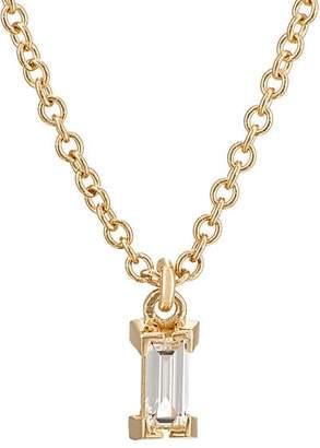 Ileana Makri Women's Baguette White Diamond Pendant Necklace - Yellow Gold