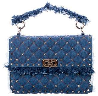 Valentino Rockstud Spike Denim Bag
