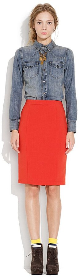 Firelight pencil skirt