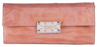 pradaPrada Vernice Leather Clutch