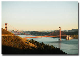 "Ariane Moshayedi 'Gg Bridge' Canvas Art - 22"" x 32"""