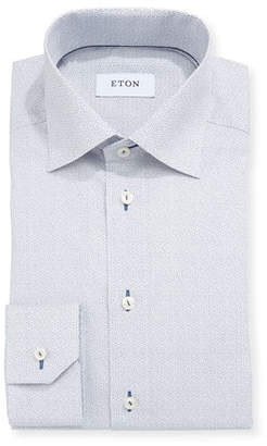 Eton Octagon-Print Dress Shirt