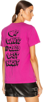 Off-White Off White Markers Casual Tee in Fuchsia & Black | FWRD