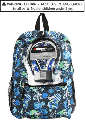 Fab Little & Big Boys Galaxy-Print Backpack & Headphones