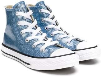 Converse (コンバース) - Converse Kids glitter detail hi-top sneakers