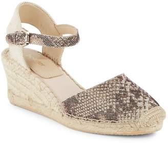 Botkier New York Women's Elia Leather Espadrille Wedge Sandals