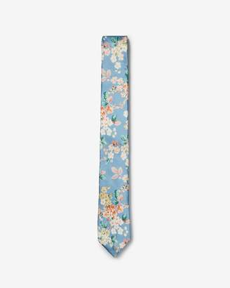 Express Slim Floral Liberty Fabric Silk Tie