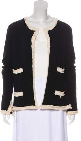 Chanel Cashmere Frayed Cardigan
