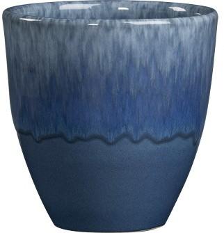 Blue Glazed Planter